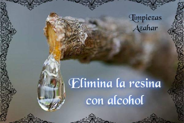 Elimina la resina con alcohol